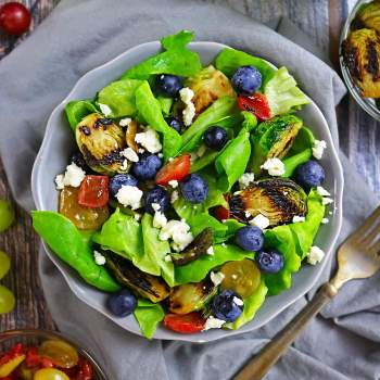 Easy Grilled Brussels Sprouts & Summer Berry Salad