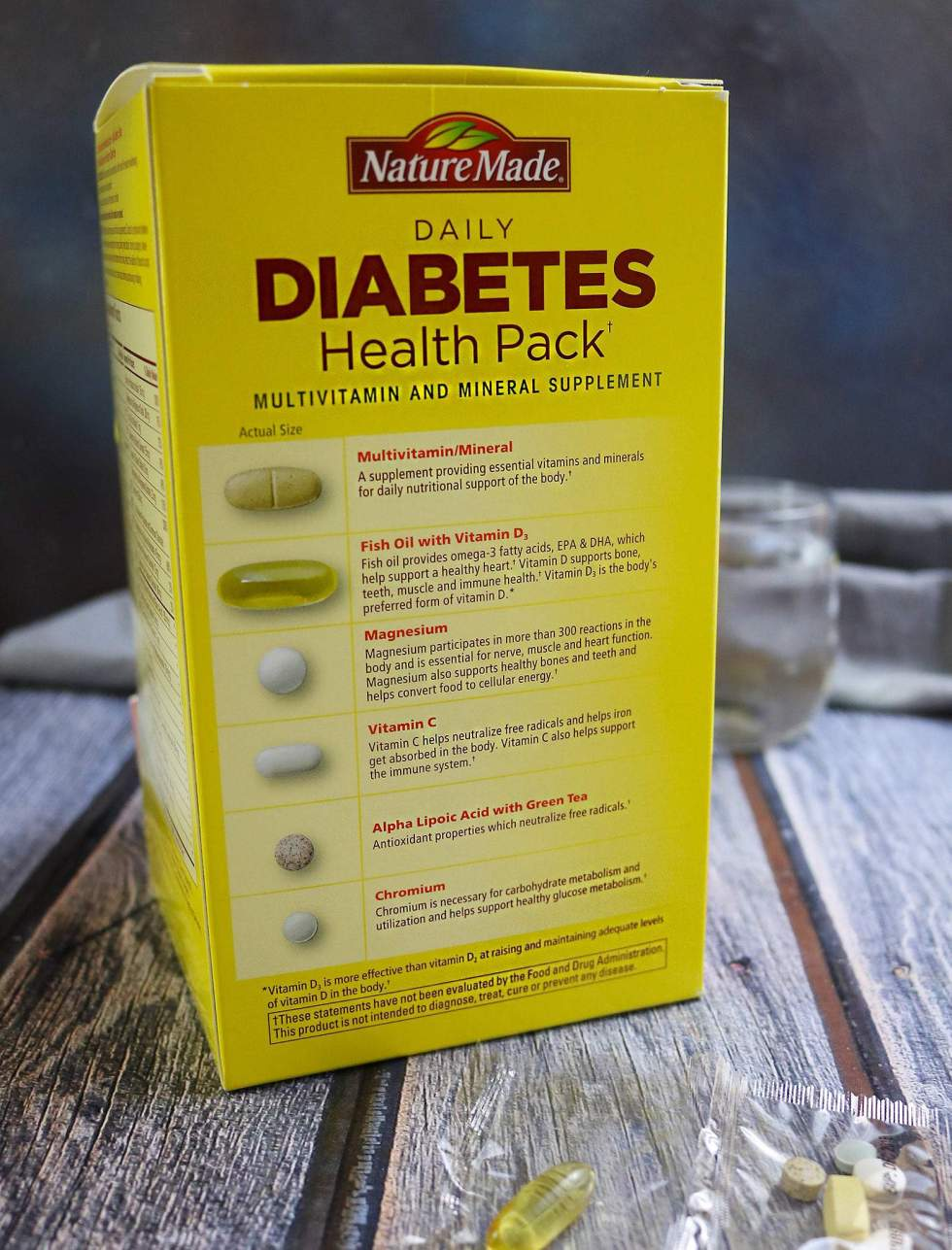 Nature Made® Daily Diabetes Health Pack Info