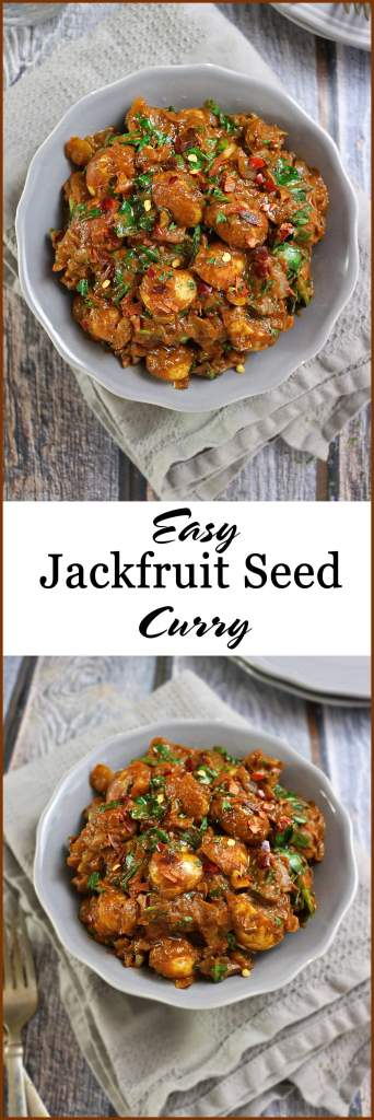 Easy Jackfruit Seed & Spinach Curry