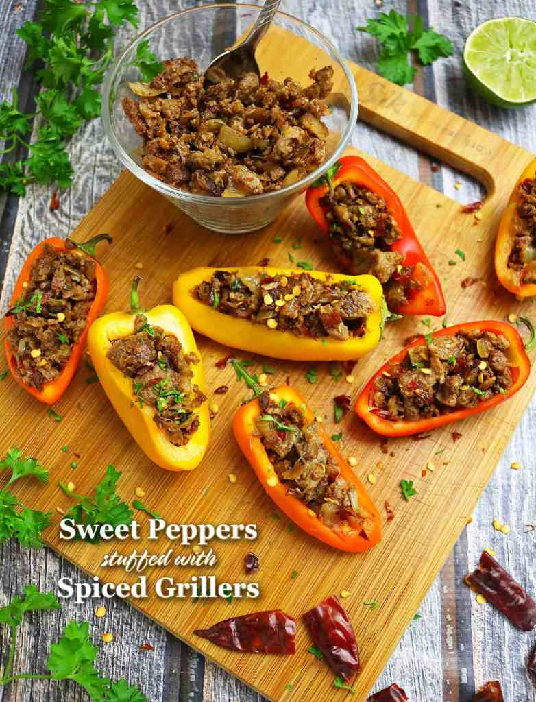 Sweet Peppers stuffed with Garam Masala Spiced Grillers
