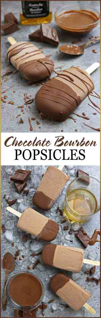 Easy 4-Ingredient Chocolate Bourbon Popsicles (dairy free)
