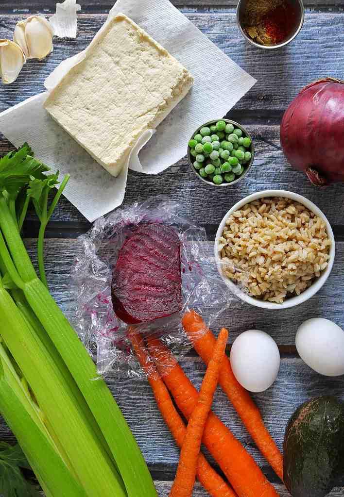 Spiced Tofu Veggie Bowl Prep