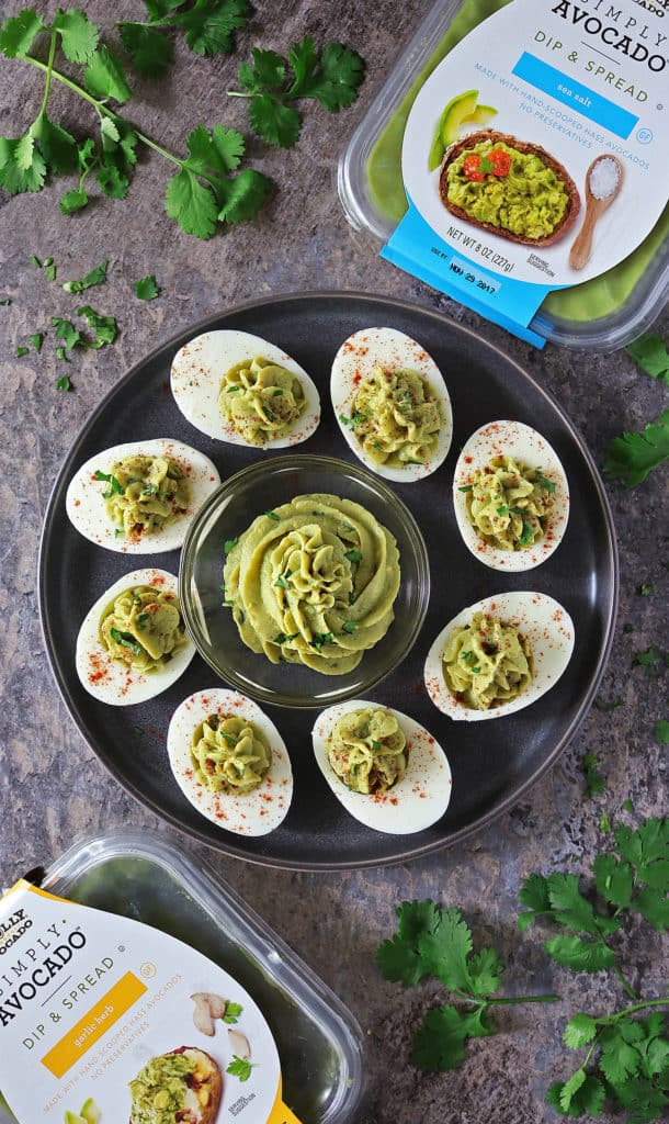 Devilled Avocado And Garlic Eggs