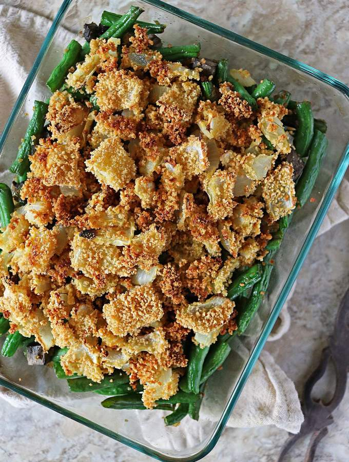 A Simple Green Bean Casserole With A Twist!