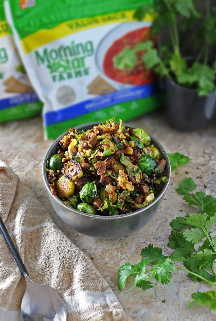 Hearty Sauteed Brussels Sprouts With Walnuts And Crumbles - Vegetarian Appetiser