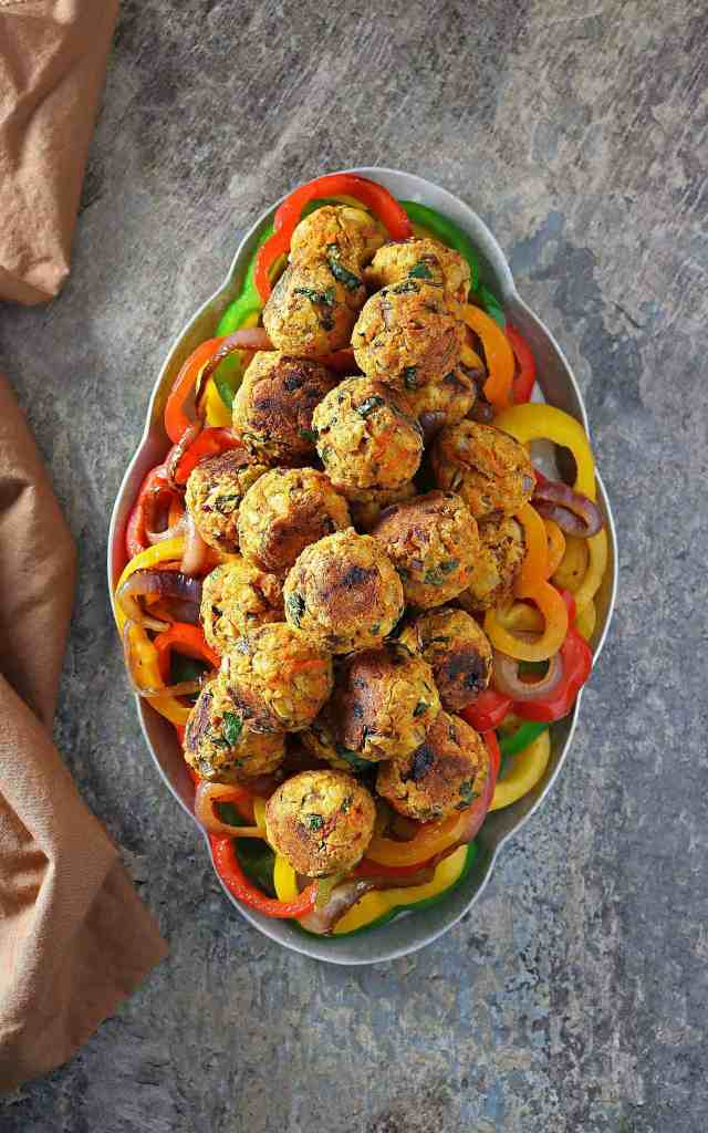 Meatless Veggie Balls For Christmas