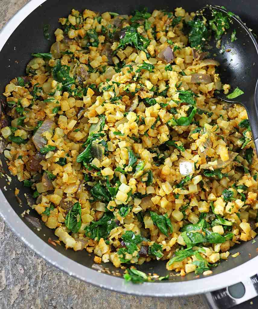 Turmeric Cauliflower And Greens
