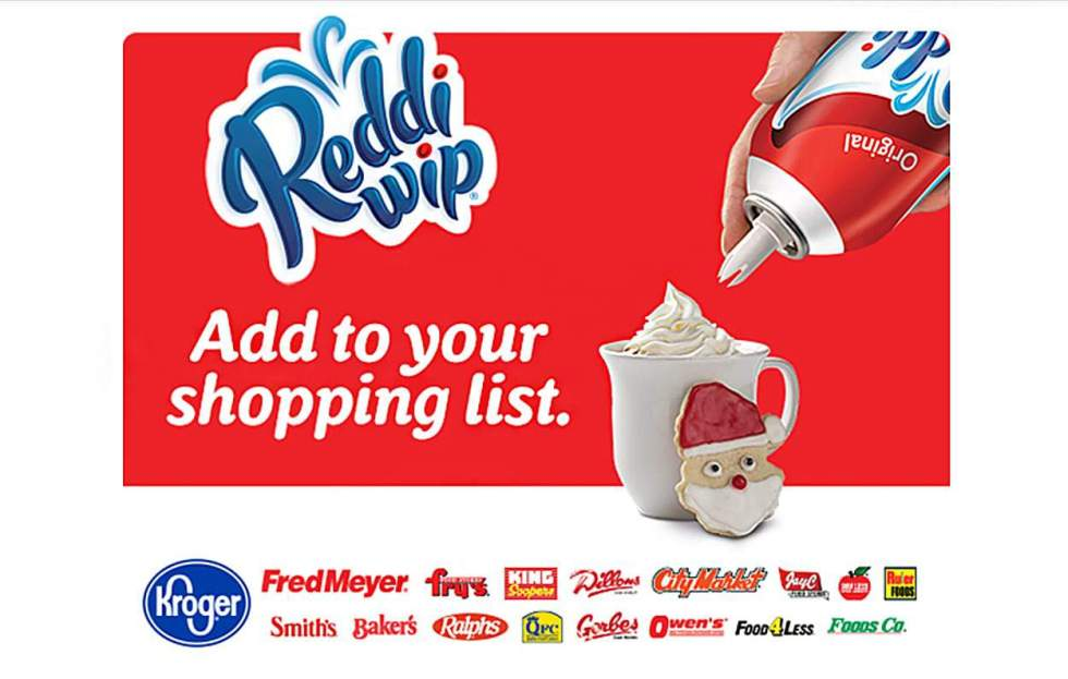 Add Reddi-Wip® Real Whipped Cream to your list