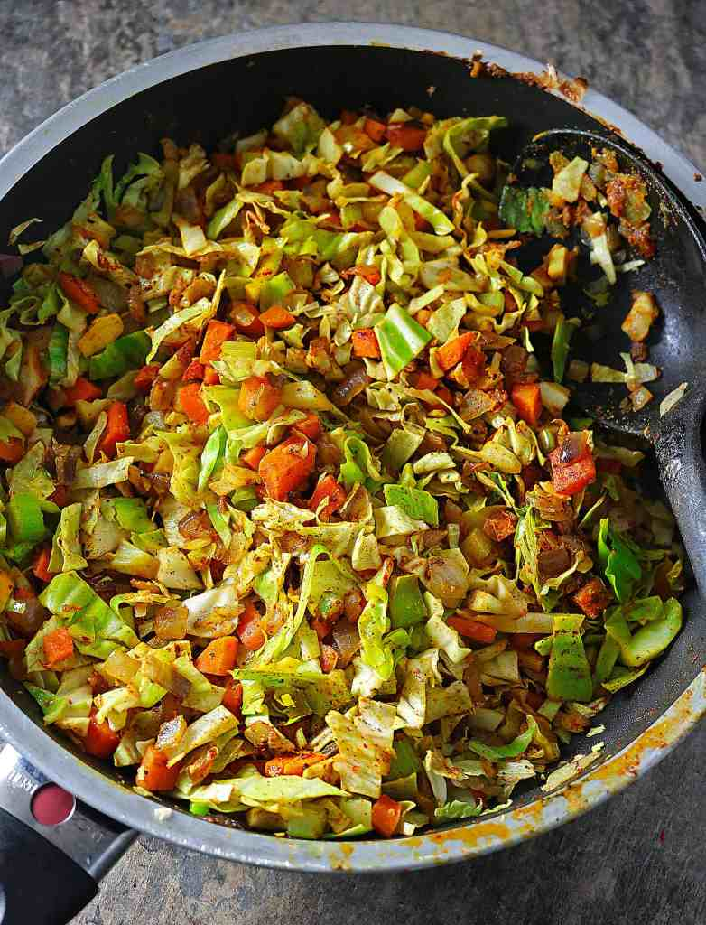 Spiced Cabbage, Carrots and Celery