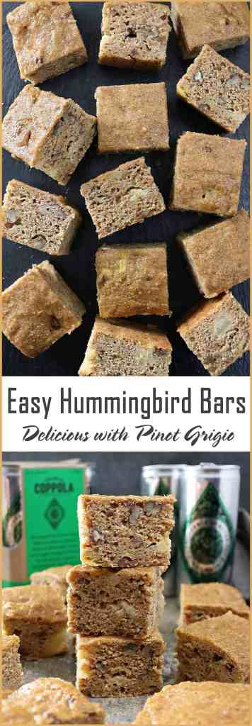 [For 21+] Lets have a picnic with Easy Hummingbird Cake Bars and Pinot Grigio from @coppolawine #sponsoredtravel #unified2018 @theunified @CollectiveBias @SouthwestAir