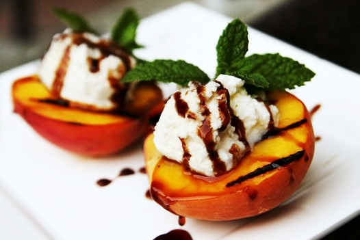 grilledpeacheswithricotta Recipe: Grilled Peaches with Ricotta Cheese