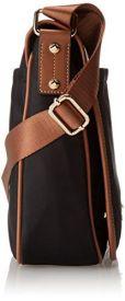 side view of the CK Dressy Nylon Messenger Bag