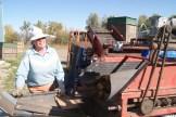 Rosemary Wotske harvesting potatoes at Poplar Bluff