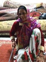 rug factory worker, Jaipur photo - Karen Anderson