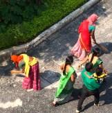 Street sweeping in saris, Udaipur photo - Karen Anderson