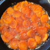 apricots flipped and ready for pastry crust photo - Karen Anderson