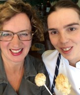 The challenge: could I make these so that you could in turn make them? - selfie with chef Sabine Gradauer
