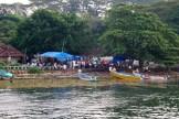 Returning to Kochi's shoreline fish market - photo - Karen Anderson