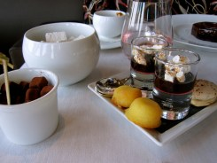 The great French chef Alain Ducasse's idea of petit fours at his Eiffel Tower restaurant Jules Verne - photo - Karen Anderson
