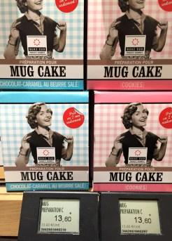 Ready to bake mug cakes at Le Grand Epicerie de Paris - photo - Karen Anderson