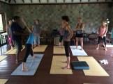 yoga in Mahamallapuram - photo - Karen Anderson
