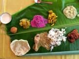 banana leaf thali - Chettinad - photo - Karen Anderson