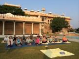 yoga at Fateh Garh - photo - Karen Anderson