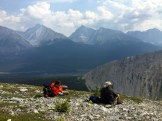Lunch on Tent Ridge - Hike the Canadian Rockies - photo - Karen Anderson