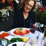 Me enjoying a lovely dinner - photo credit - Pauli-Ann Carriere