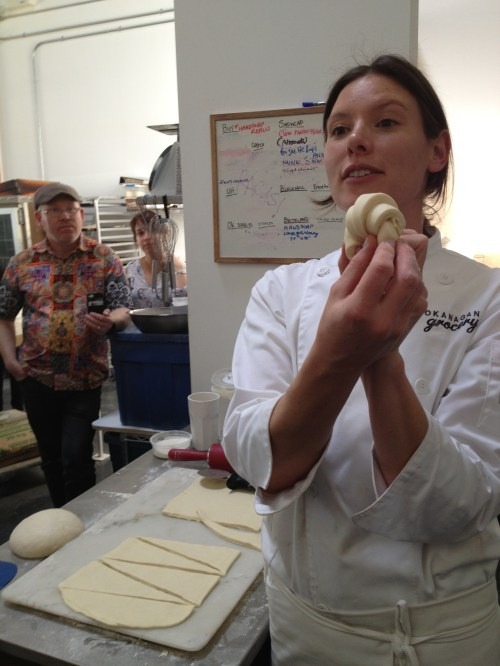 Monica Walker of Okanagan Grocery makes baking croissant look so easy
