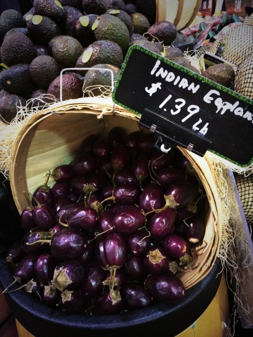 "If you see these little ""Indian eggplants"" while shopping - do buy them. They're delicious. photo - Karen Anderson"