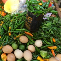 chilies and eggs - which came first? photo - Karen Anderson