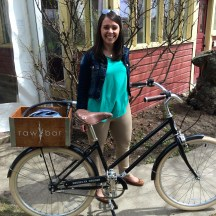 Katie Mayer of Hotel Arts Group cycled over to join our Inglewood tour one day photo - Karen Anderson