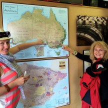 Visitors from Australia showing us where they're from photo - Karen Anderson