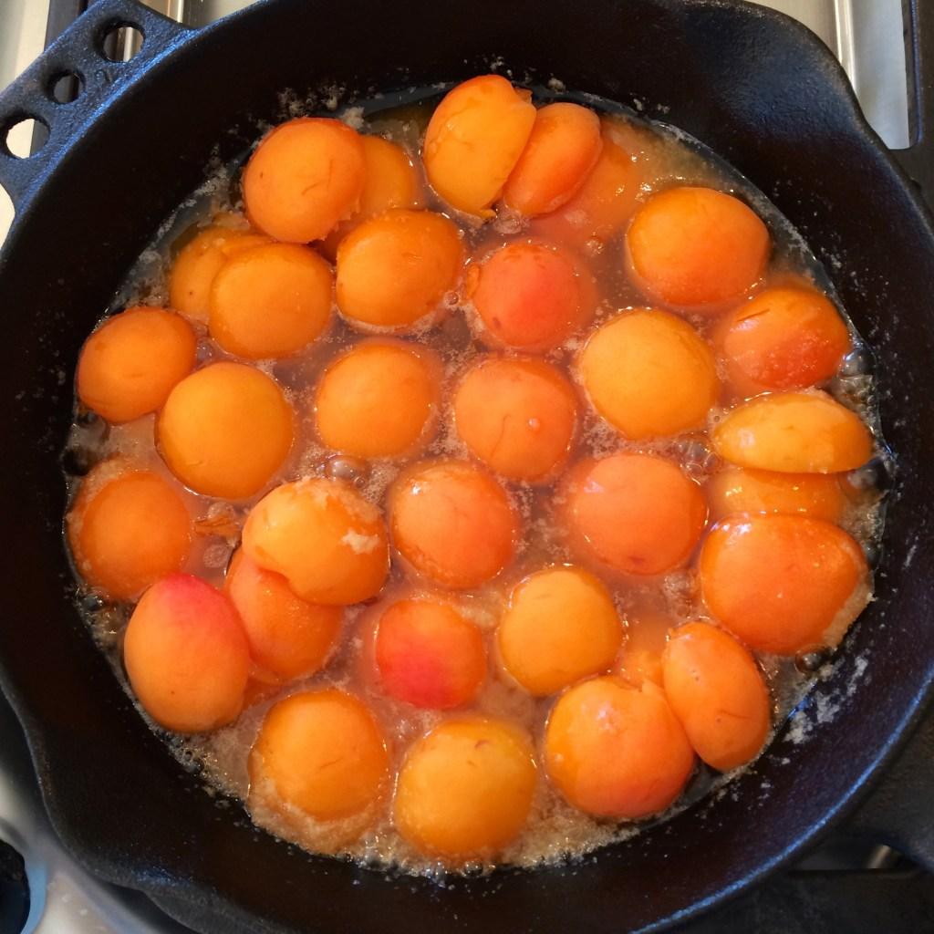 Apricot Tarte Tatin - close up