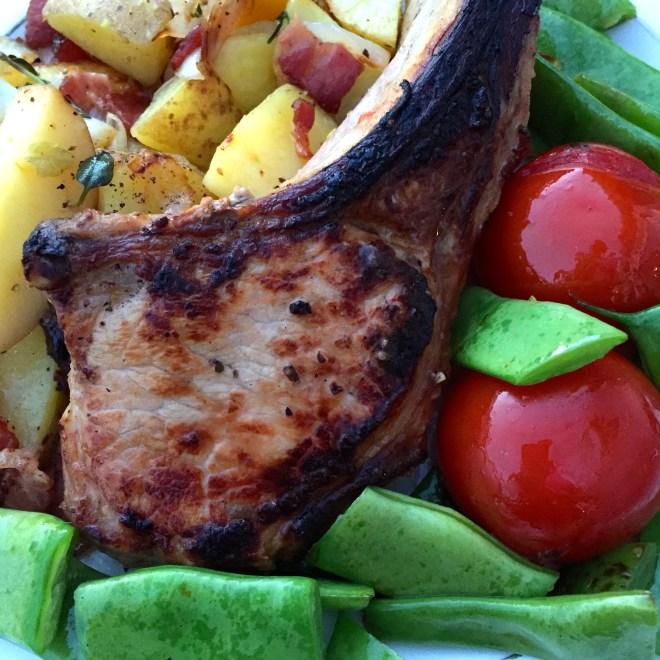 Apple Brined Pork Chops - photo - Karen Anderson