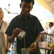 My friend Charles mixing chai - photo - Karen Anderson