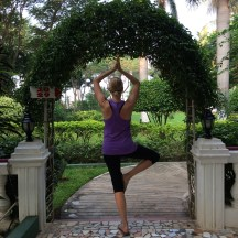 yoga near Tanjore - photo - Karen Anderson