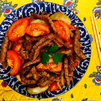 Seto Family Beef and Tomatoes - photo credit - Karen Anderson