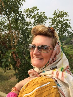 My friend Heidi wearing her chic new scarf from the Chandelao Norway Project - photo credit - Karen Anderson