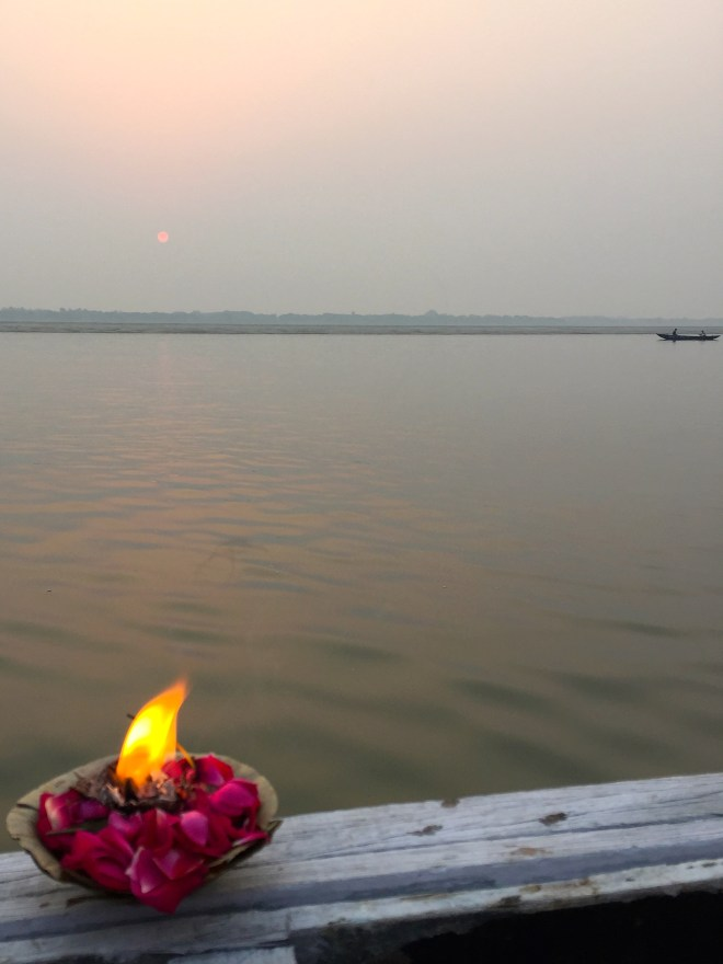 Offering to the Ganges - photo credit - Karen Anderson @savouritall