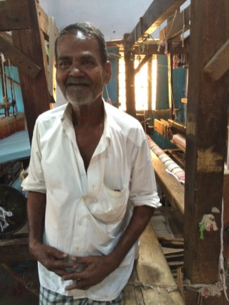Elder weaver in Madurai, India - photo credit - Karen Anderson
