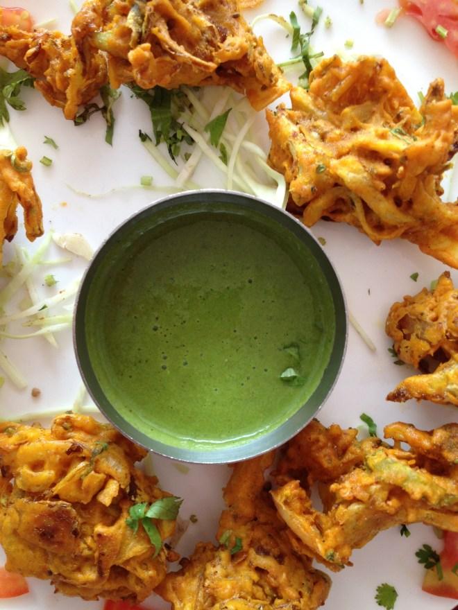 Indian Snacks - bhajias- pakoras - Karen Anderson - @savouritall