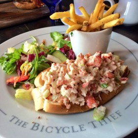 lobster roll - close up