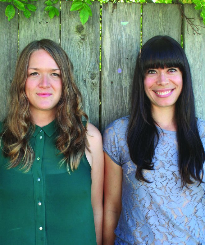 Dana Vanveller and Lindsay Anderson - authors of FEAST - savour it all blog by Karen Anderson