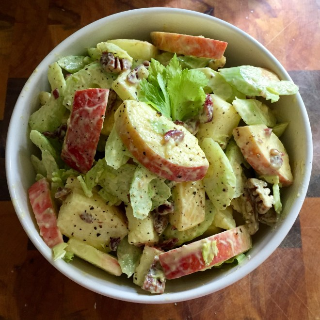 Curried Apple and Celery Salad, Savour it All blog, Karen Anderson