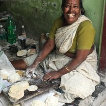 Faces Places and Plates - Usha - a local papadam maker