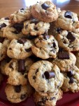 best ever chewy chocolate chip cookies - overhead view
