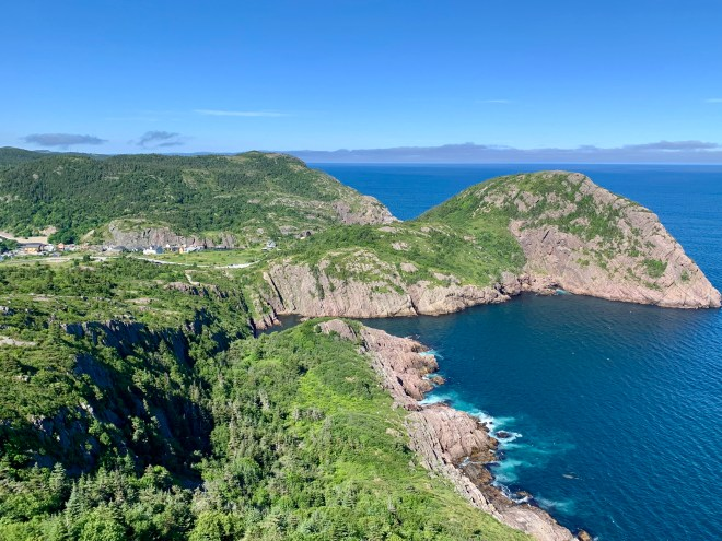 View from Lady's Lookout trail, St. John's, NL - photo by Karen Anderson