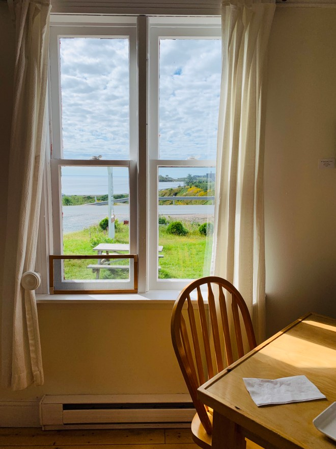 view from Two Whales Cafe in Port Rexton, NL